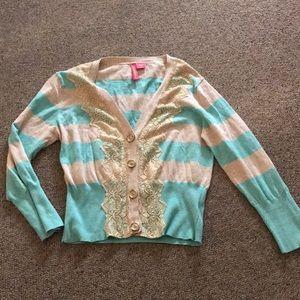 Charlotte Tarantola Aqua striped sweater XL